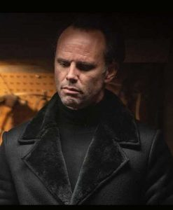 Walton Goggins Fatman Skinny Man Coat With Shearling Collar