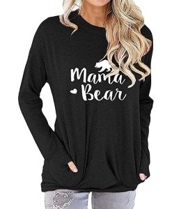 Mama Bear Sweatshirt With Long Sleeve