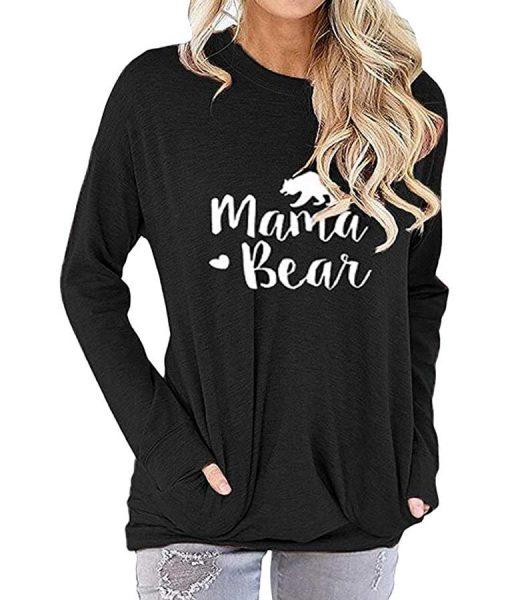 Women's Mama Bear Sweatshirt With Long Sleeve