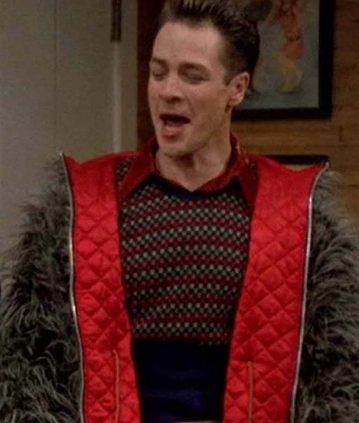 French Stewart 3rd Rock from the Sun Harry Reversible Fur Jacket