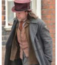 A Christmas Carol Guy Pearce Grey Trench Coat
