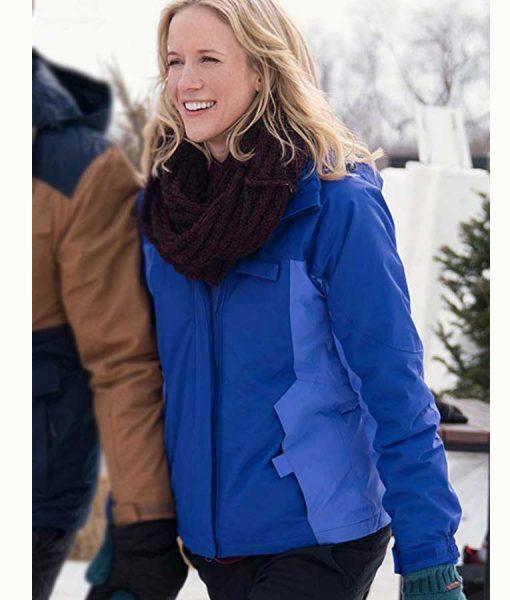 Amazing Winter Romance Jessy Schram Hooded Jacket