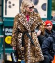 The Politician Season 02 Lucy Boynton Cheetah Print Coat