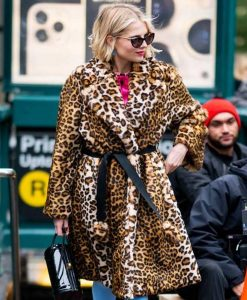 The Politician Season 02 Lucy Boynton Cheetah Print Coat