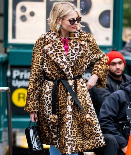 Astrid Sloan The Politician Season 02 Lucy Boynton Cheetah Print Coat