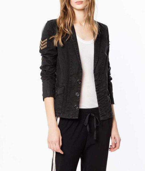 B Positive Gina Cotton Military Jacket