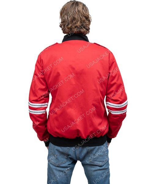 BTS Band J.Hope Red Satin Bomber Jacket