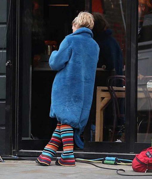 Billie Piper I Hate Suzie Blue Fur Coat