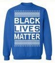 Black Lives Matter Christmas Blue Sweater