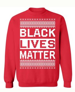 Black Lives Matter Christmas Blue Sweater