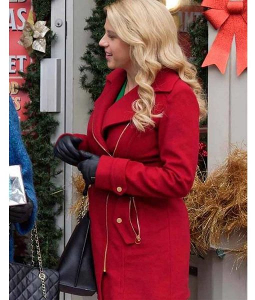 Jodie Sweetin Entertaining Christmas Red Coat