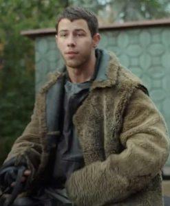 Nick Jonas Chaos Walking Davy Prentiss Jr. Sherpa Coat