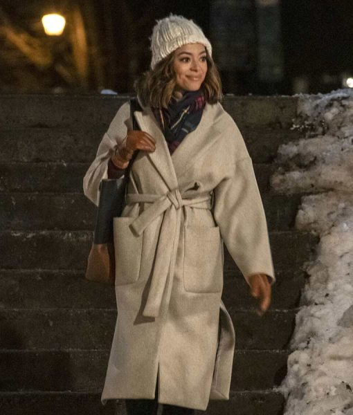 Charity Jones Christmas Unwrapped Amber Stevens Trench Coat