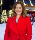 Christmas In Evergreen Ashley Williams Red Trench Coat