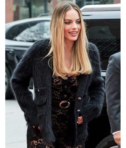 Allison Wells Dreamland Margot Robbie Black Fur Jacket