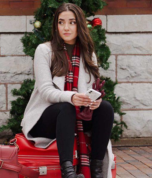 Paniz Zade Dashing Home for Christmas Emily White Coat
