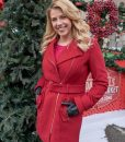 Candace Livingstone Entertaining Christmas Red Coat