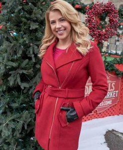 Candace Livingstone Entertaining Christmas Red Coat