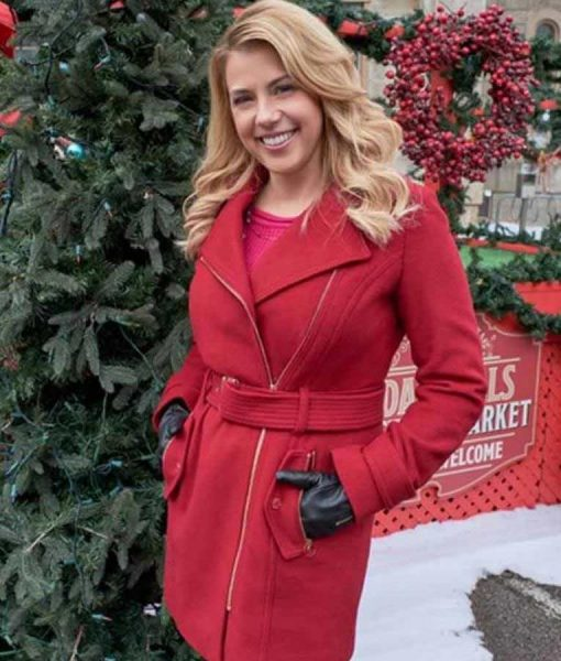 Entertaining Christmas Jodie Sweetin Red Coat