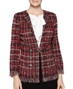 Deneen Tyler Filthy Rich Norah Ellington Plaid Tweed Knit Jacket