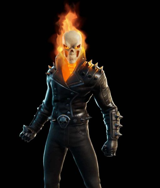 Fortnite Chapter 2 S04 Ghost Rider Cup Leather Jacket With Spikes