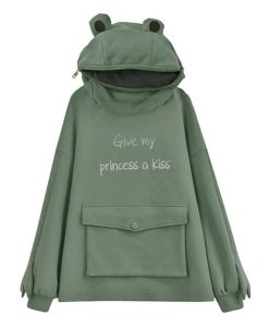 Give My Princess a Kiss Frog Hoodie