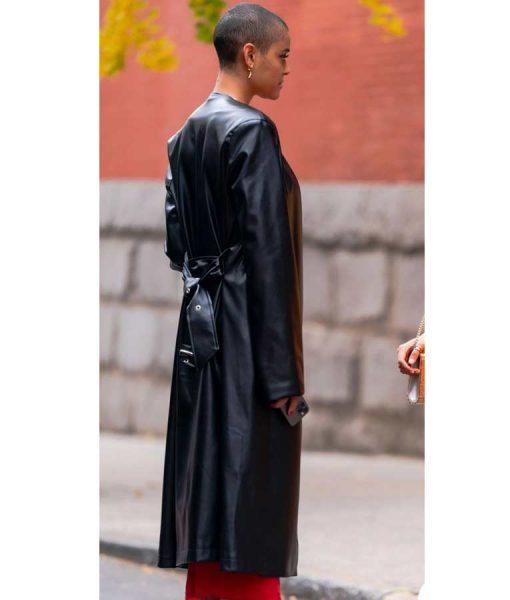 Gossip Girl 2021 Jordan Alexander Leather Trench Coat