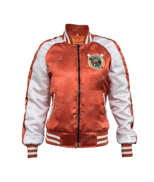Karen Gillan Sam Orange Bomber Jacket