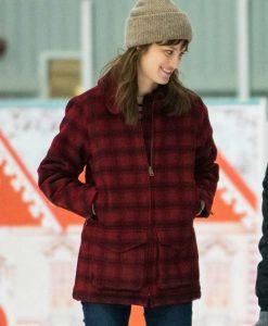 Happiest Season Mackenzie Davis Plaid Coat