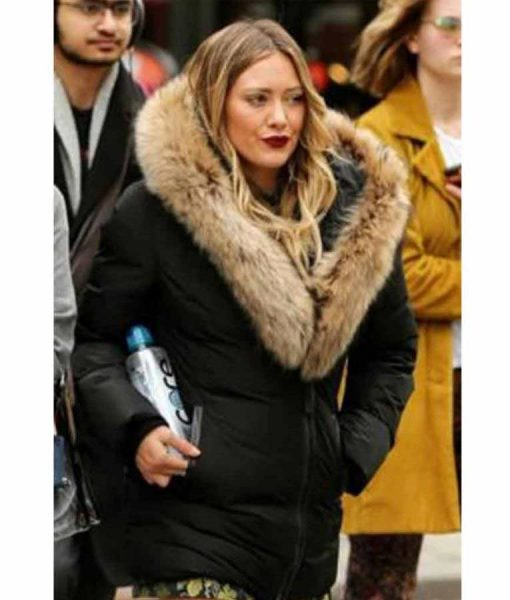 Hilary Duff Younger S07 Kelsey Peters Jacket With Brown Fur Collar