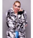 Suzie PicklesI Hate Suzie Billie Piper Black & White Fur Coat