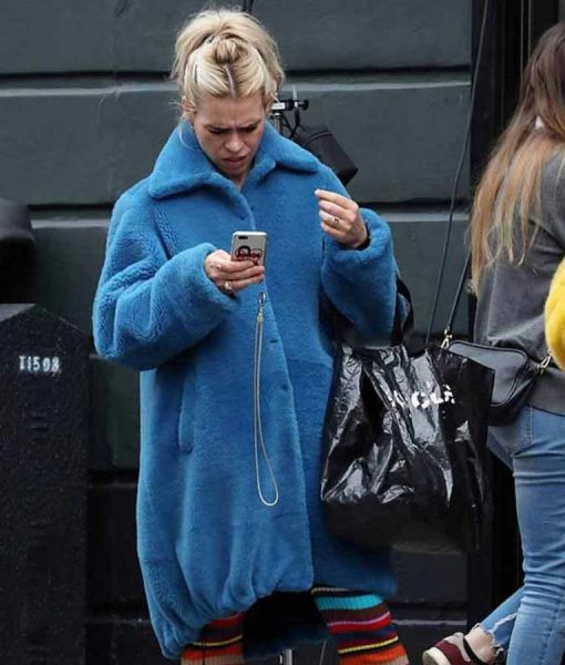 Billie Piper I Hate Suzie Suzie Pickles Blue Fur Coat