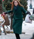 Godmothered Isla Fisher Green Trench Coat