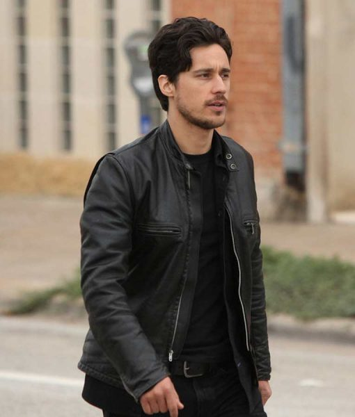 Queen Of The South Peter Gadiot Black Leather Jacket