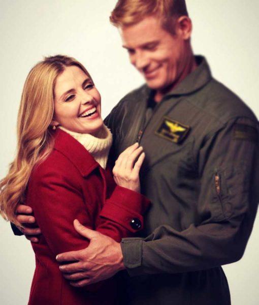 Jen Lilley USS Christmas Red Coat