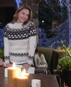 Jill Wagner Hearts of Winter Sweater