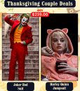 Joker Red Suit Harley Quinn Jumpsuit