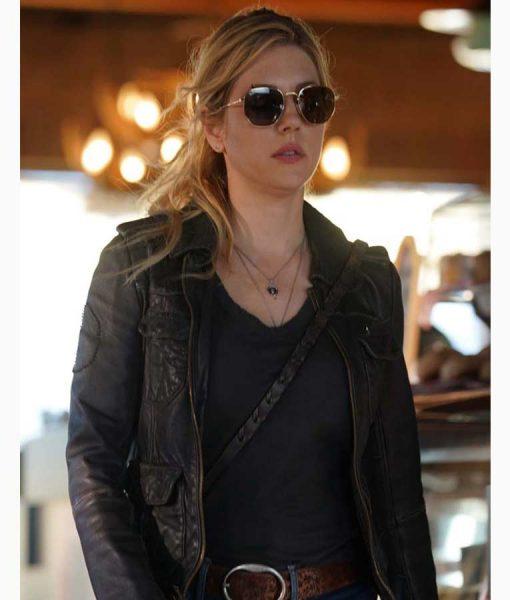 Katheryn Winnick Big Sky Jenny Hoyt Black Leather Jacket