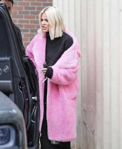 Keeping Up With The Kardashians Khloe Pink Fur Coat