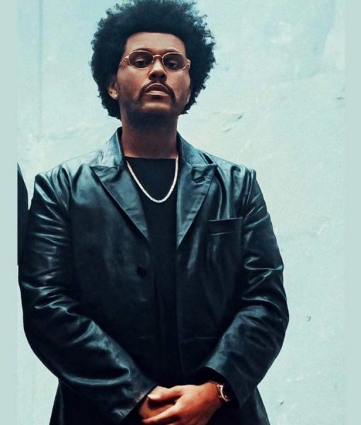 Maluma Hawái Remix The Weeknd Black Genuine Leather Jacket