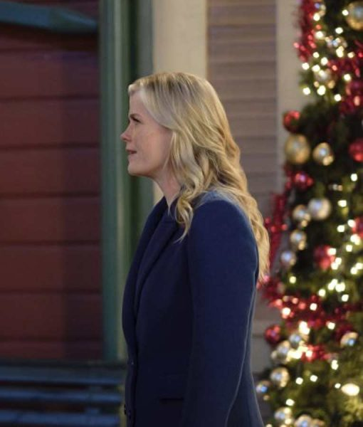 Melissa Good Morning Christmas Alison Sweeney Blue Coat