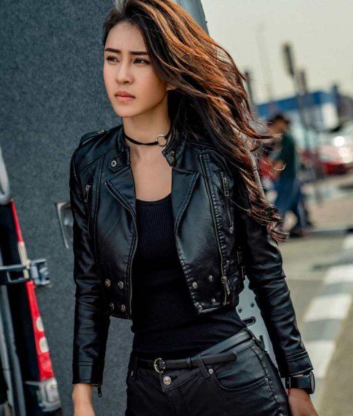 Mi Ya Vanguard Miya Muqi Black Bikers Leather Jacket