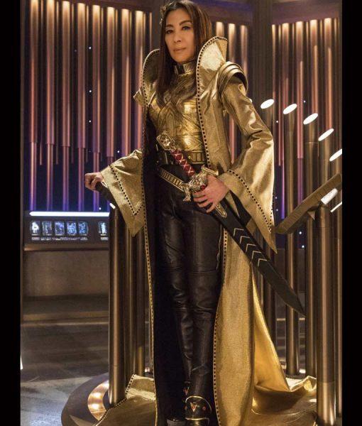 Michelle Yeoh Star Trek Discovery Emperor Georgiou Long Coat