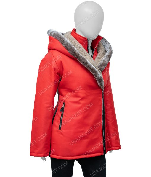 Midnight at the Magnolia Red Coat With Hood