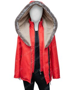 Midnight at the Magnolia Red Hooded Coat