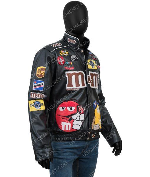 M&ms Black Leather Jacket