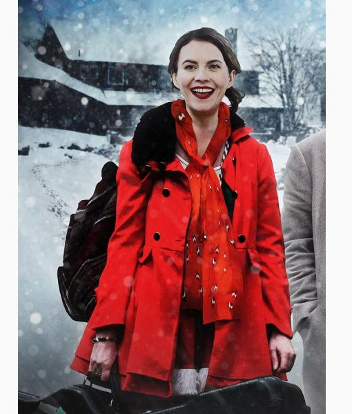 Natalie Clark Lost at Christmas Red Coat