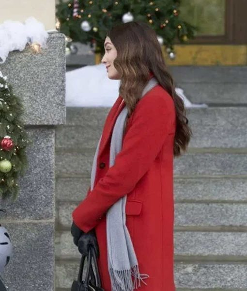 Jennifer On The 12th Date of Christmas Red Coat