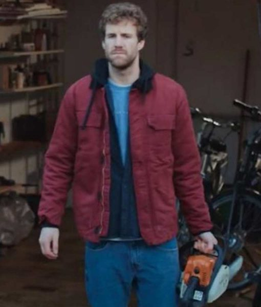 Over Christmas Luke Mockridge Maroon Jacket