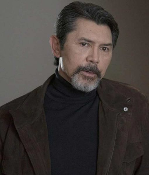 Lou Diamond Phillips Prodigal Son Gil Arroyo Suede Leather Jacket